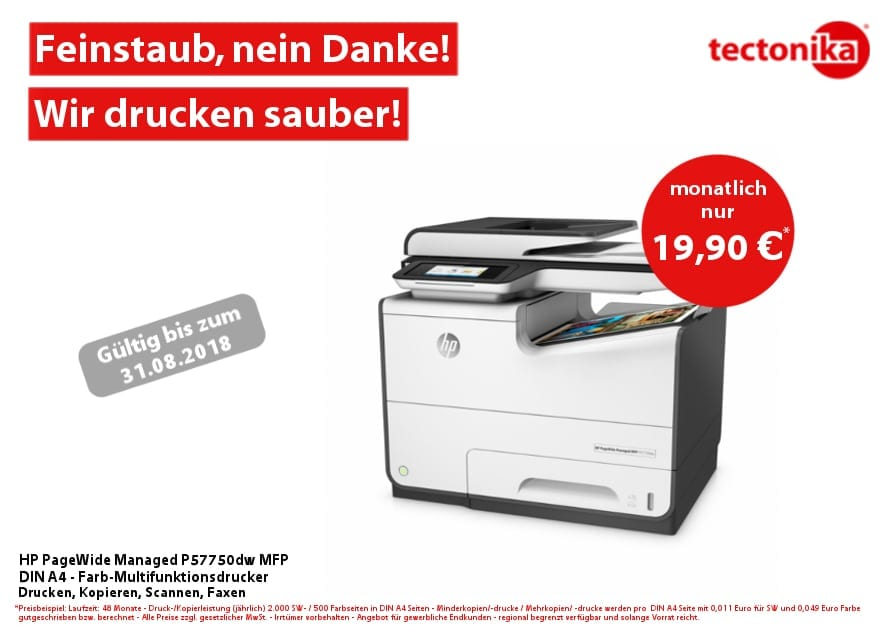 Angebot des Monats – 2018_07 – HP PageWide Managed 5770dw - tectonika