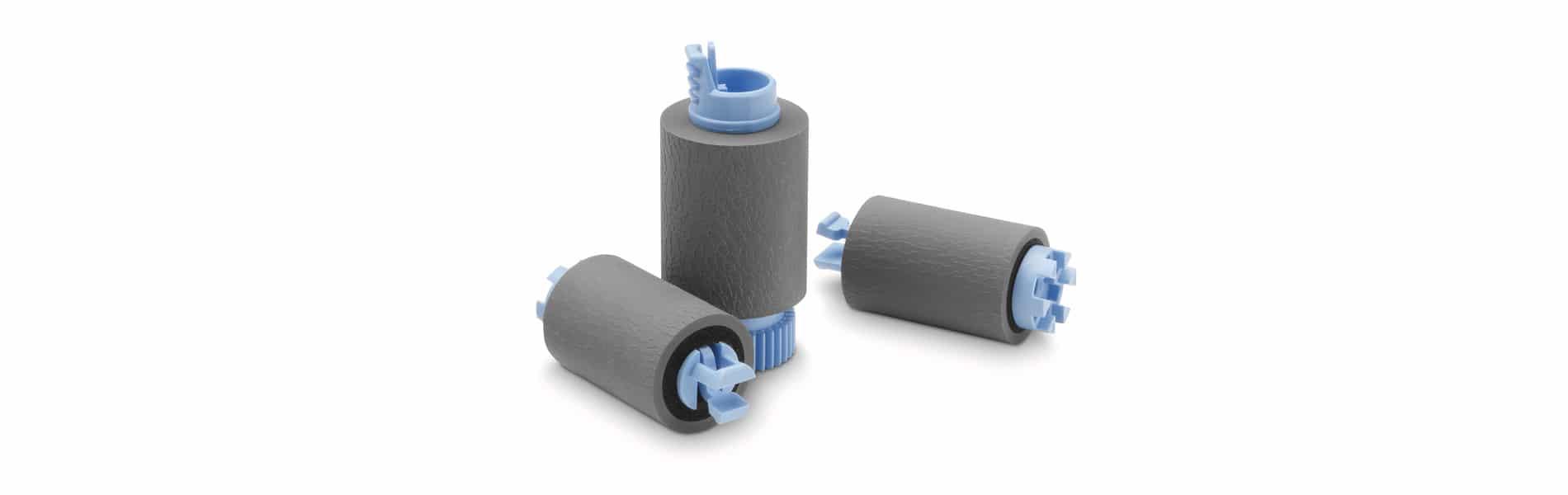 Wenn die Einzugsrollen vom Papiereinzug abgenutzt sind, verursacht ein Drucker oder Kopierer Papierstau.