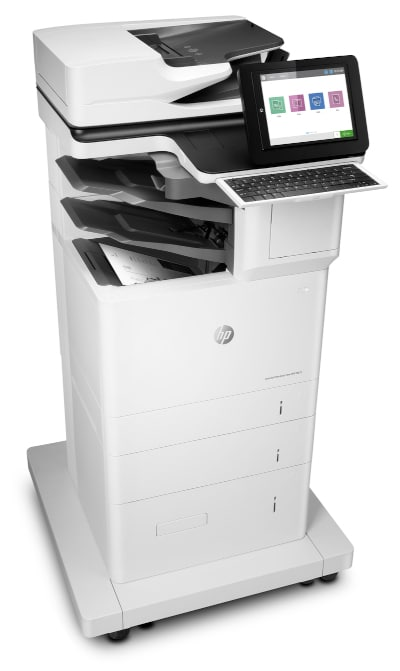 HP LaserJet Enterprise Flow MFP M635z - rechts mit Tower III