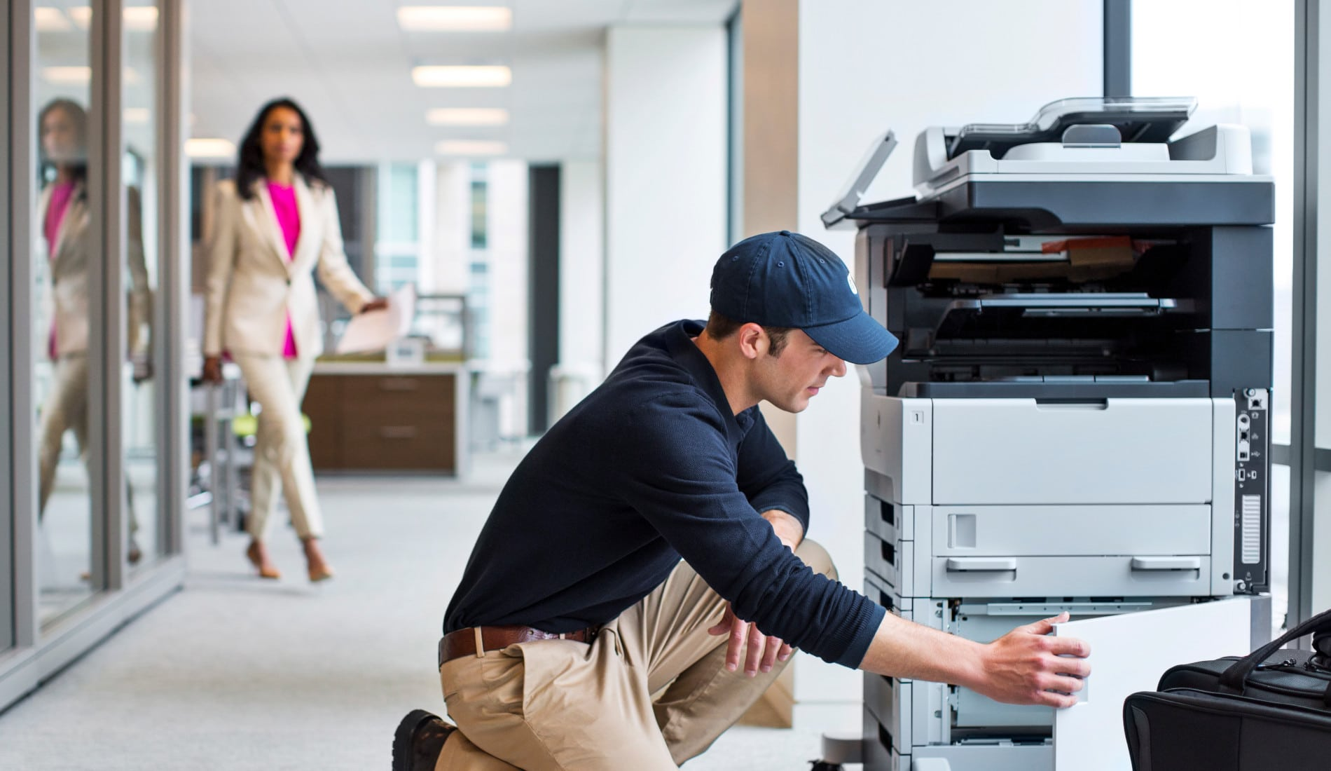 Eine Wartung für Drucker erhöht die Lebensdauer.